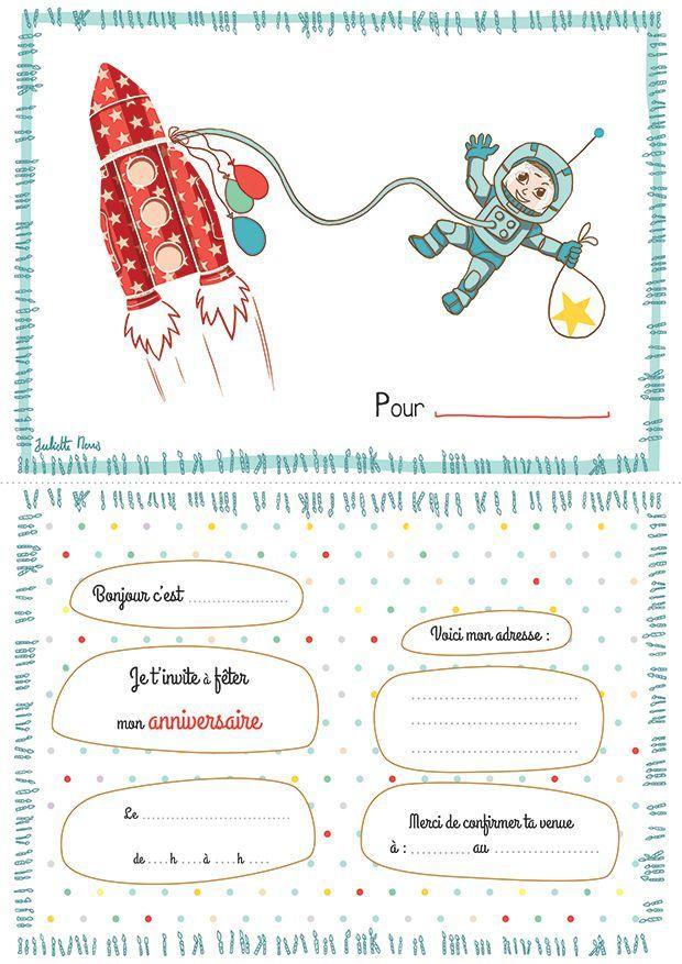 Invitation carte anniversaire | Carte anniversaire à imprimer, Carte invitation anniversaire ...