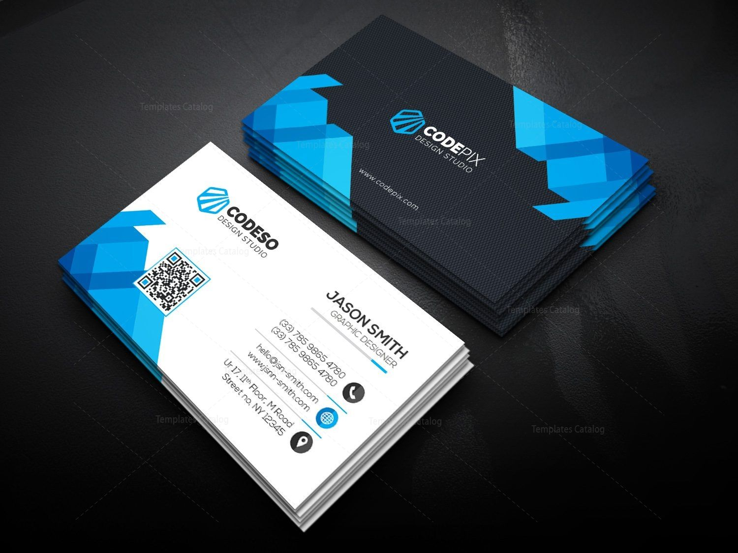 Ultra Business Card Template - Graphic Templates  Corporate