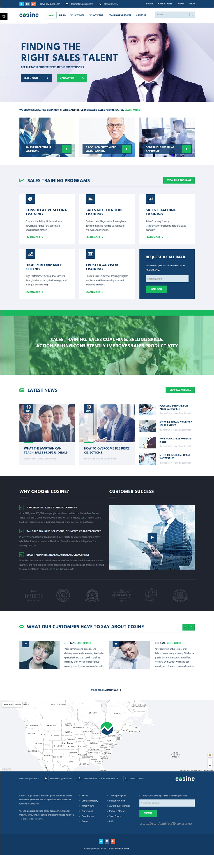 Cosine training coaching business html template template and cosine is wonderful bootstrap html template for edtech training coaching or newsletter spiritdancerdesigns Gallery