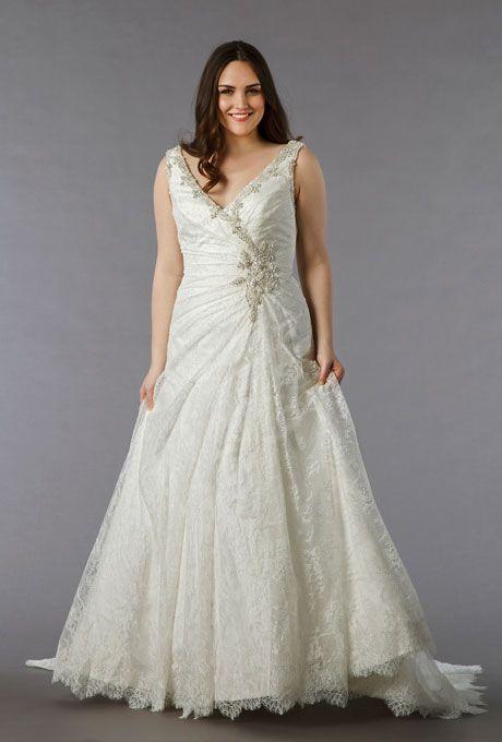 Brides Designer Plus Size Wedding Dresses We Love Style 7858w Dress 3 900 Dina Davos For Kleinfeld See More Mermaid