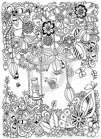 Pin by Kaylie Hatch on Zentangle | Garden coloring pages ...