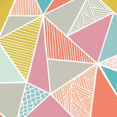 Geometric Shape Patterns Wallpaper Design Pattern Print