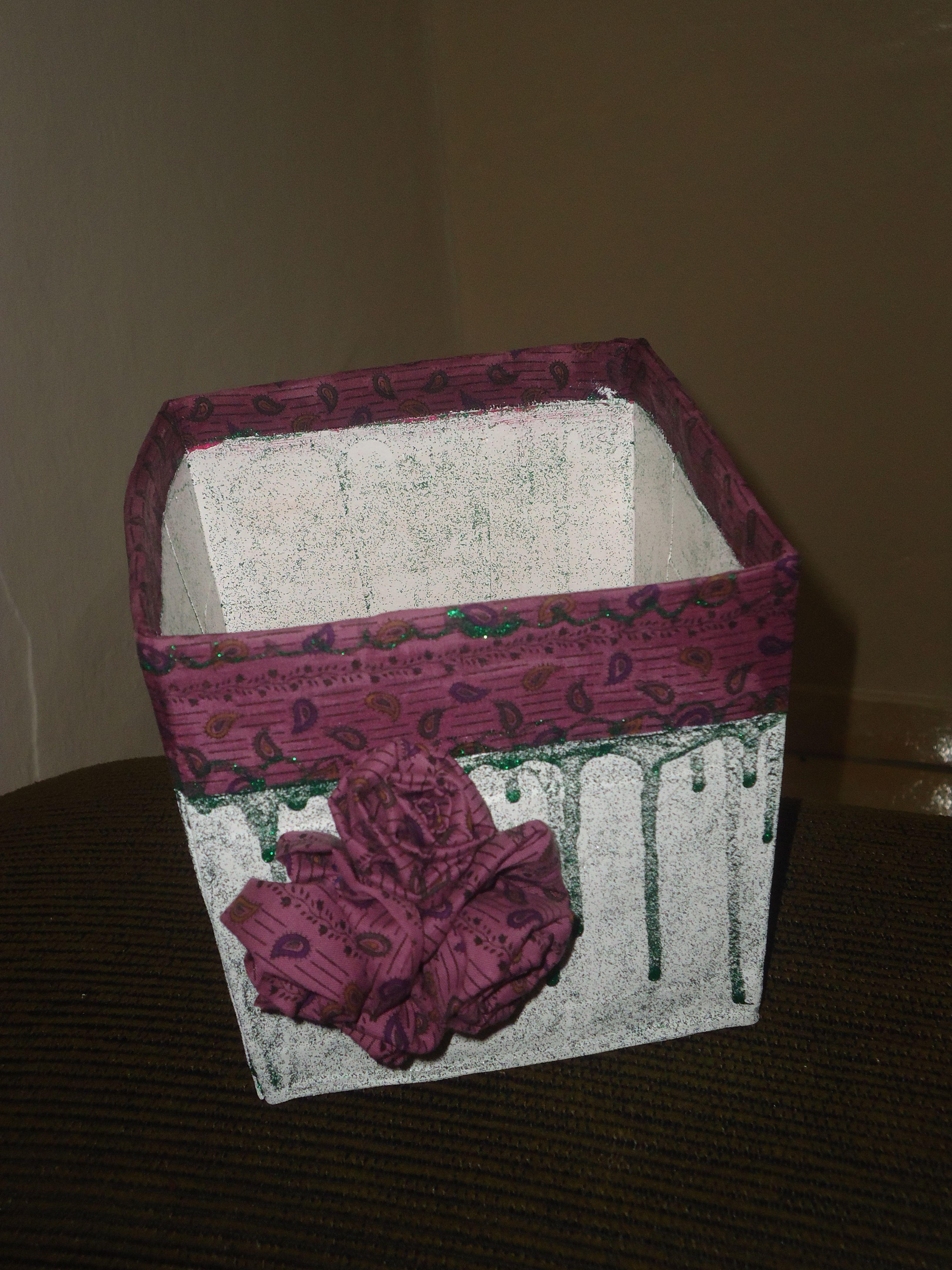 Vaso feito c embalagem de panetone