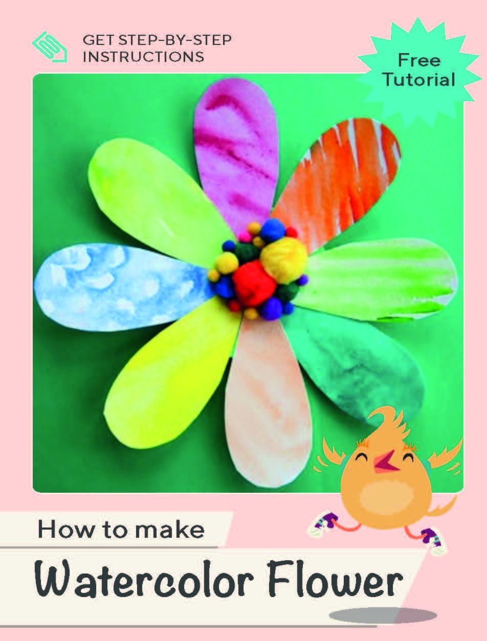 Looking for a craft that will exercise all parts of your child's creative side? Try this project, where the eight petals of a flower are painted in watercolor paint using different techniques, colors and patterns. #clicktolearn #watercolor #painting #craft #kidproject #educationdotcom