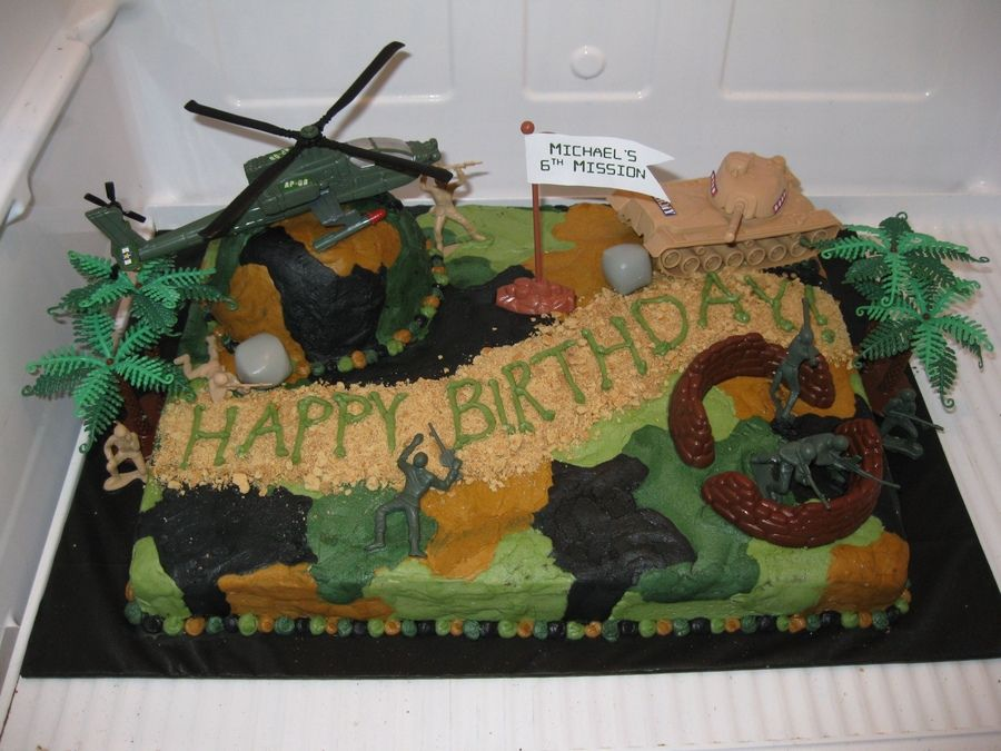 camouflage cake ideas Camo Cake Childrens Birthday Cakes