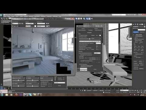Mental Ray interior &light - YouTube