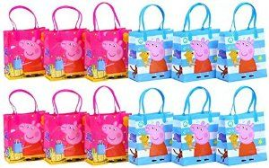 "Amazon.com: Peppa Pig Party Favor Goodie Gift Bag - 6"" Small Size (12 Packs): Toys & Games"