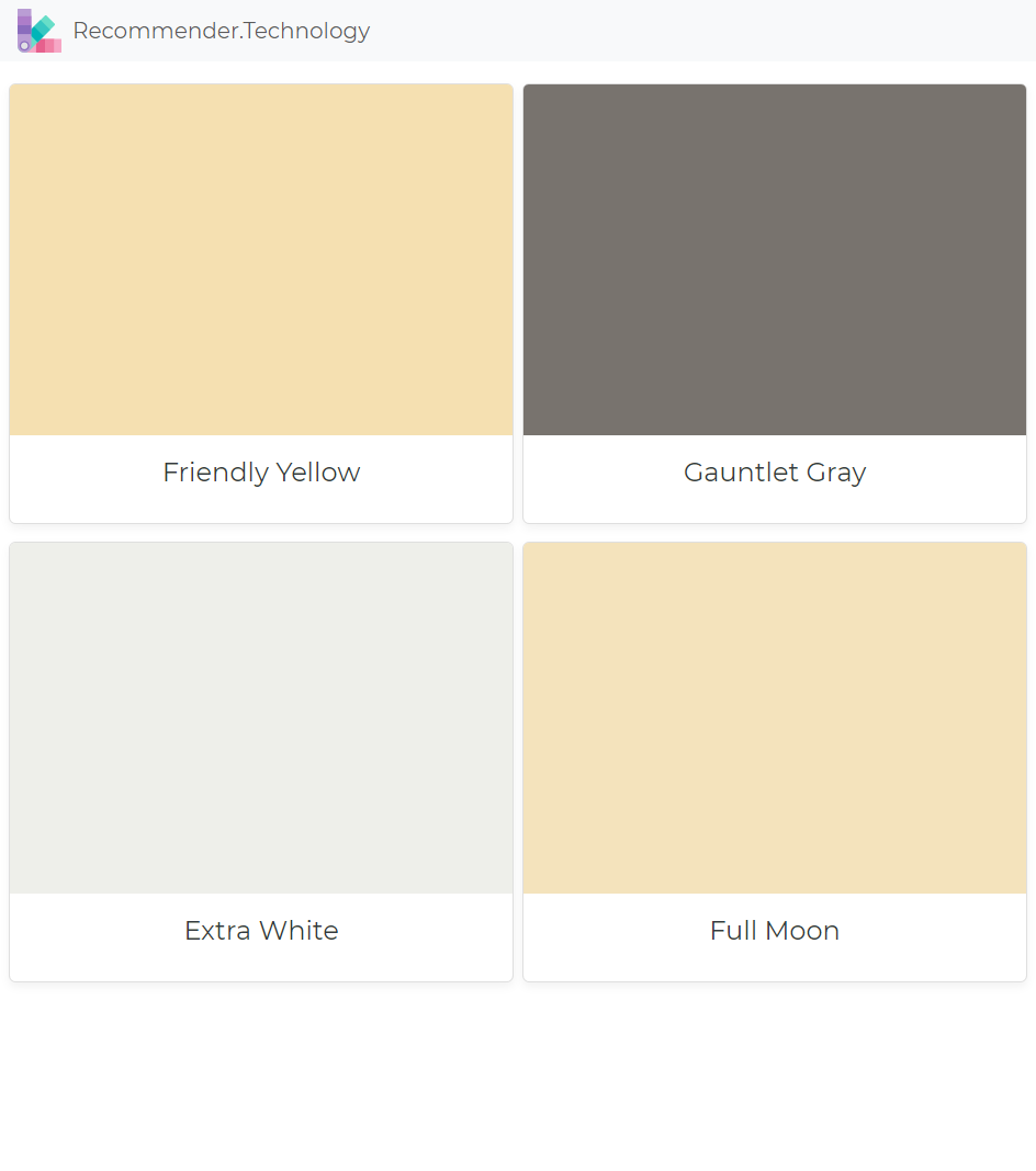 Friendly Yellow Gauntlet Gray Extra White Full Moon Color Palette Yellow Yellow Paint Colors Sherwin Williams Paint Colors