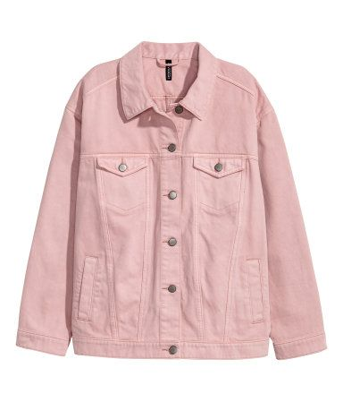 8293b62f20f2 Oversized Denim Jacket | Light pink denim | Women | H&M US | Wear in ...