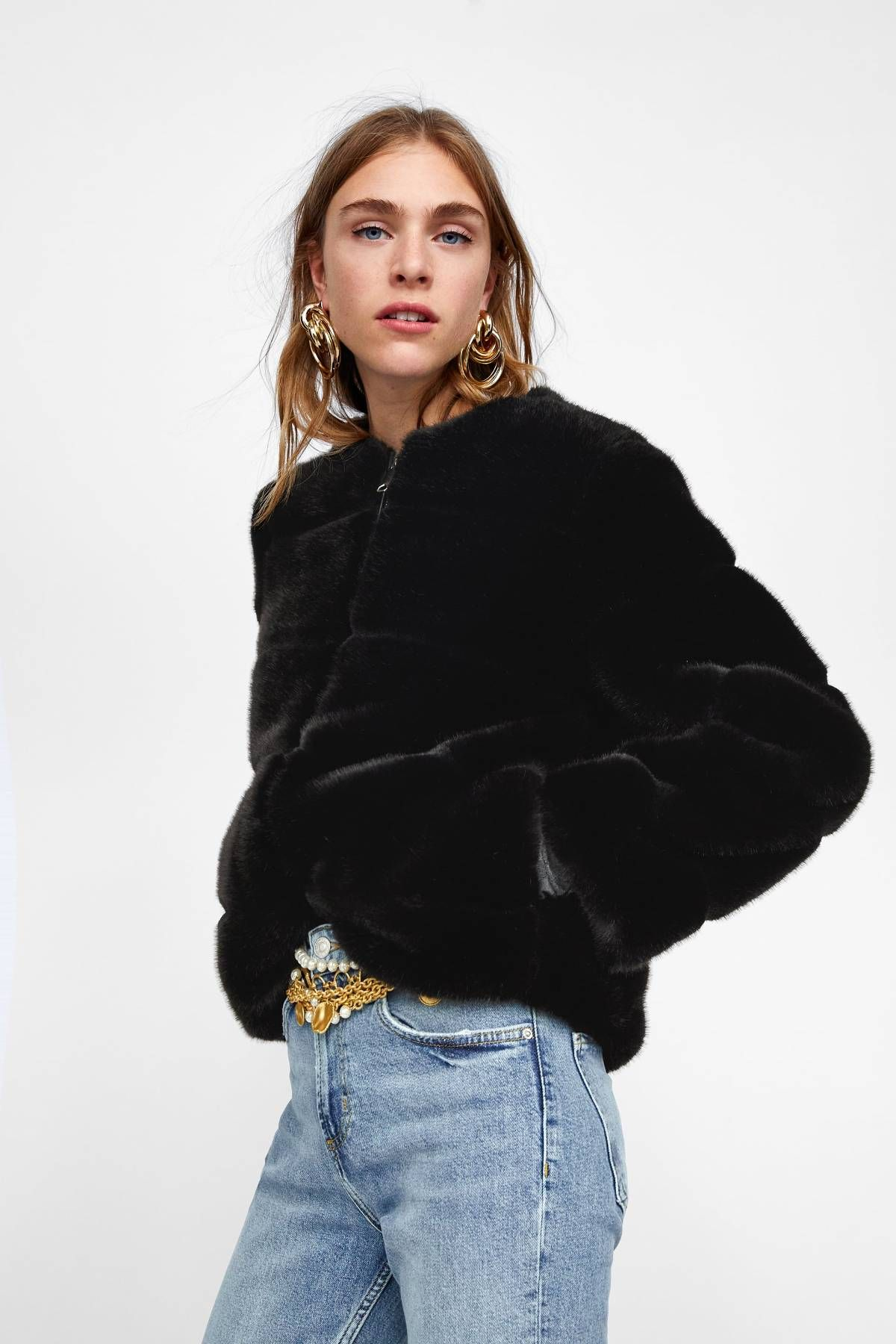Under 100 Items All The Cool Fashion Girls Are Buying Short Faux Fur Jacket Faux Fur Jacket Coat Black Faux Fur Jacket
