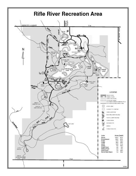 Rifle River Recreation Area, Michigan Site Map | MAPS   Local in