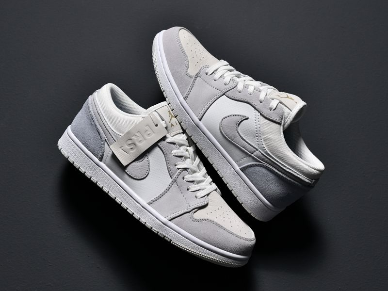 2020 Air Jordan 1 Low Paris White Grey Cv3043 100 In 2020 Air
