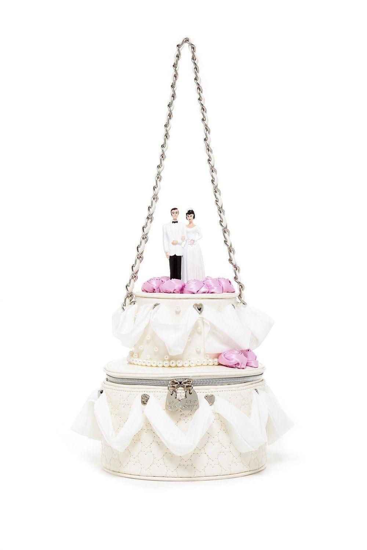 Betsey johnson blue bridal wedding cake shoulder bag