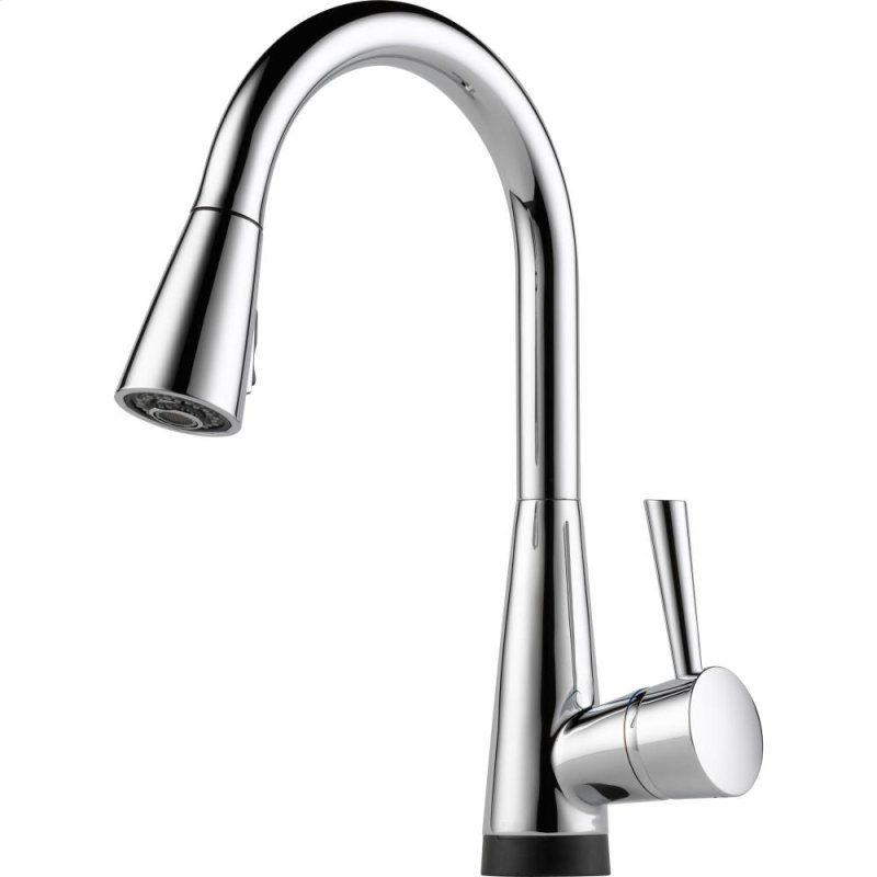 brizo chicago venuto single handle pull down kitchen faucet tresa ...