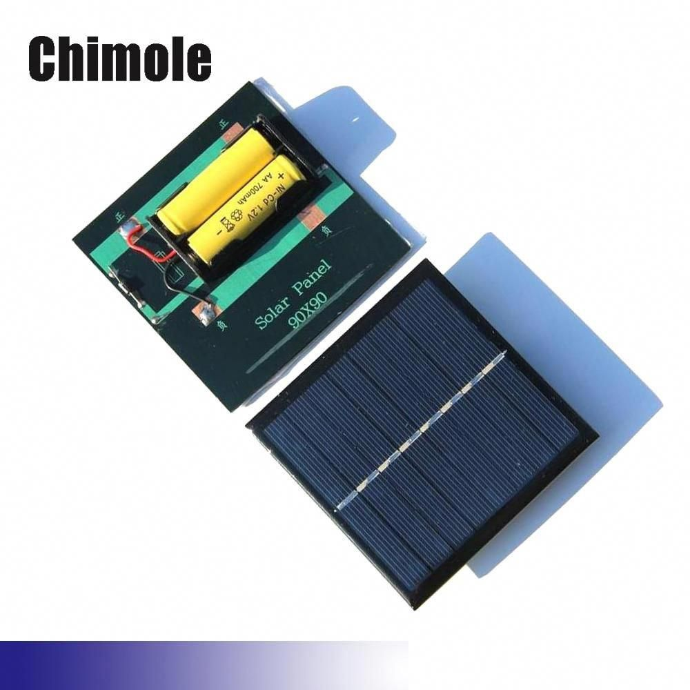 1w 2v 4v Solar Cell Chargers For Aa Aaa Rechargeable Battery 90 90mm Polycrystalline Solar Panel For Aa Aaa Rech In 2020 Solar Panels Solar Charger Solar Panel Battery
