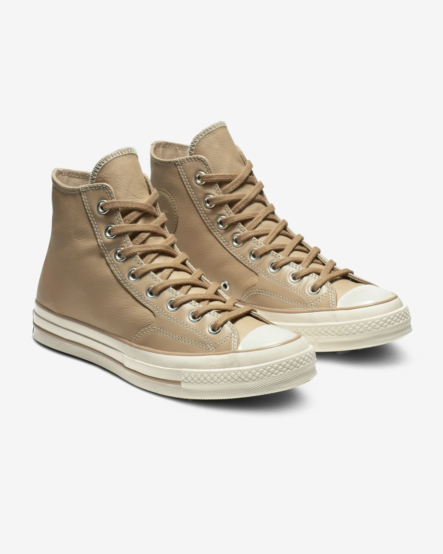 983c9e9d Chuck 70 Luxe Leather High Top Unisex Shoe, Champage   sneakers ...