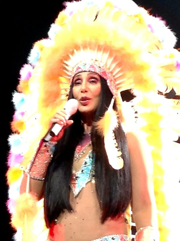 e99491b051 Cher with Indian headdress
