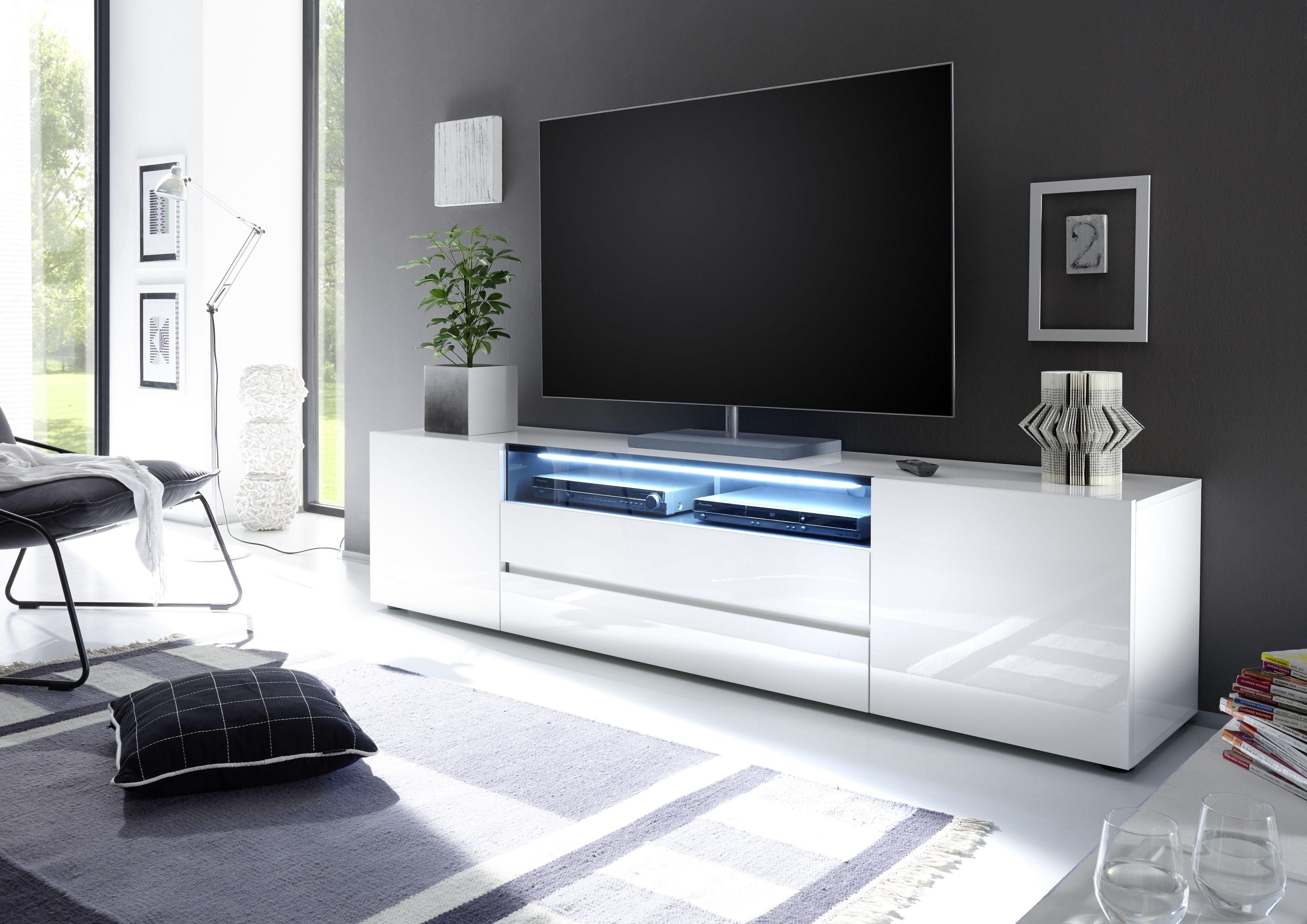 Tv Lowboard Weiss Modern En 2020 Muebles Para Tv Modernos