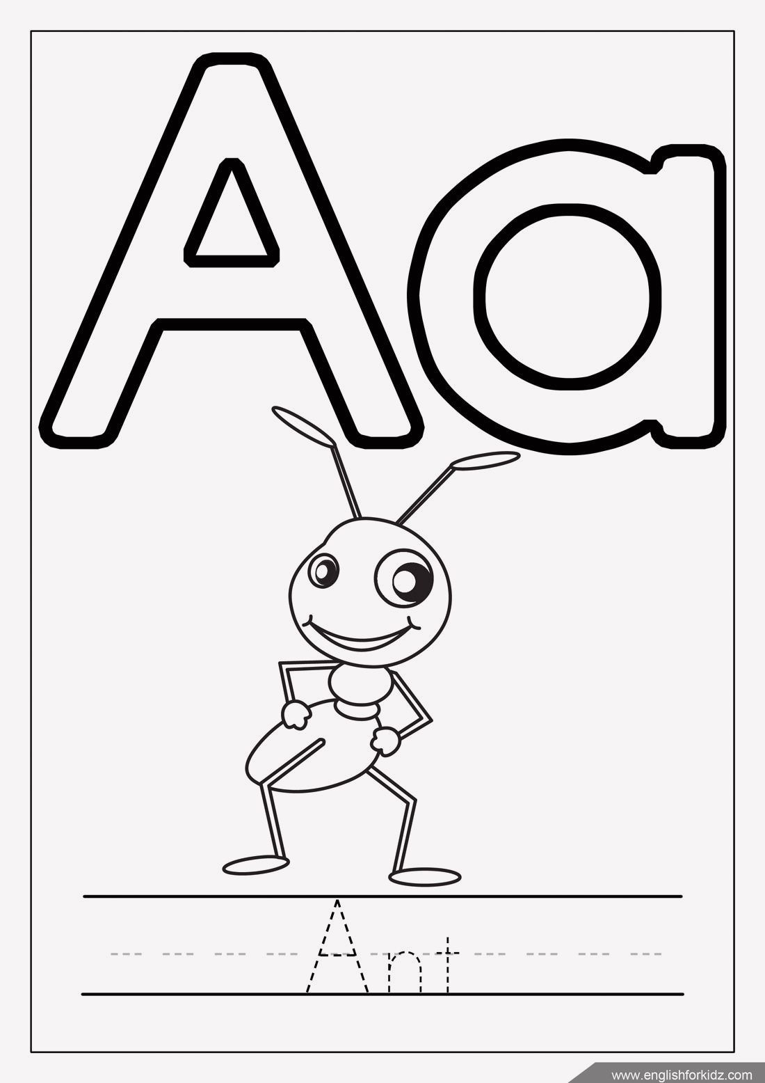 20 Alphabet Coloring Pages With Tracing In