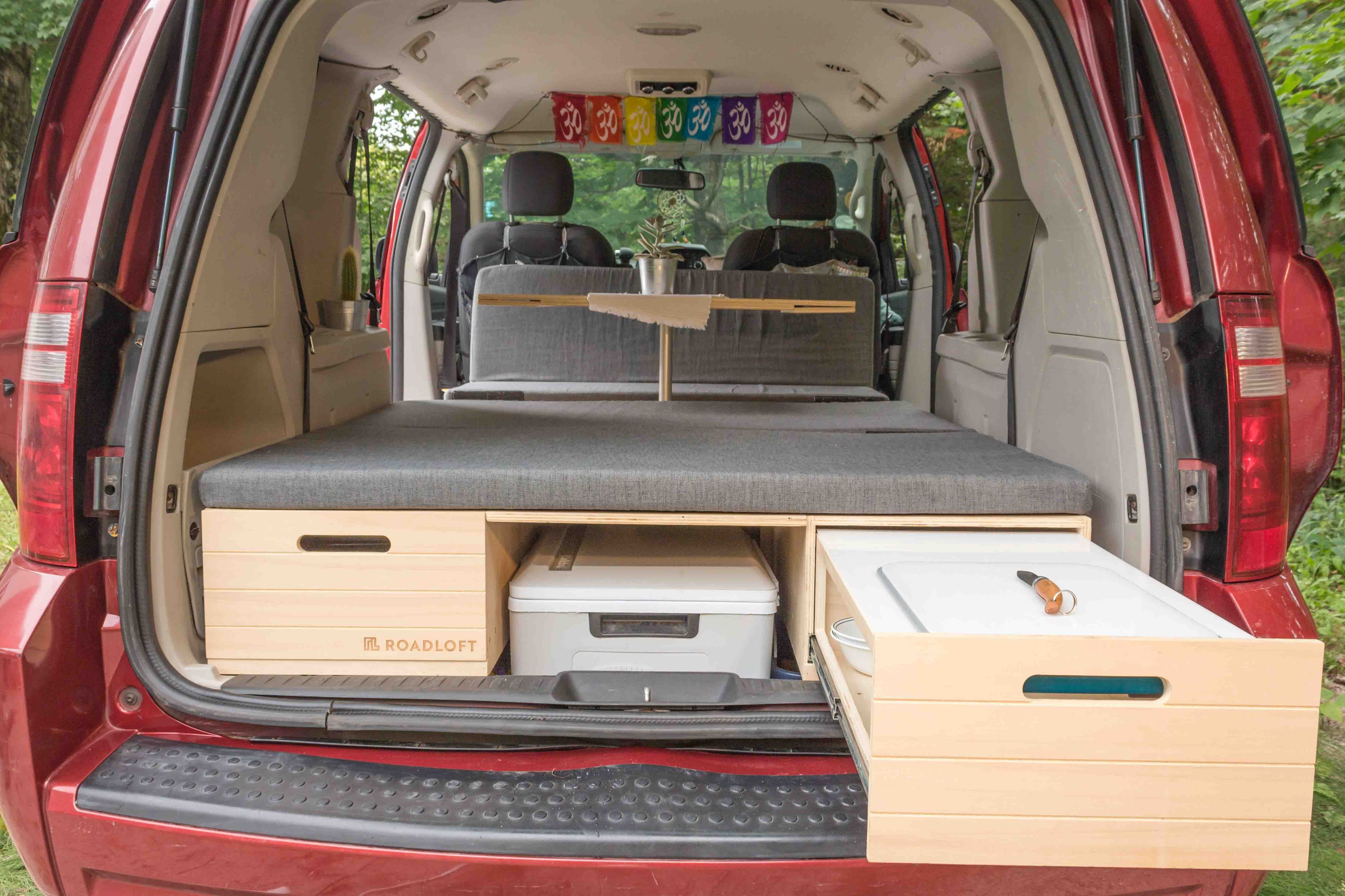 Turn Your Minivan Into A Camper With The Conversion Kit Mini Van