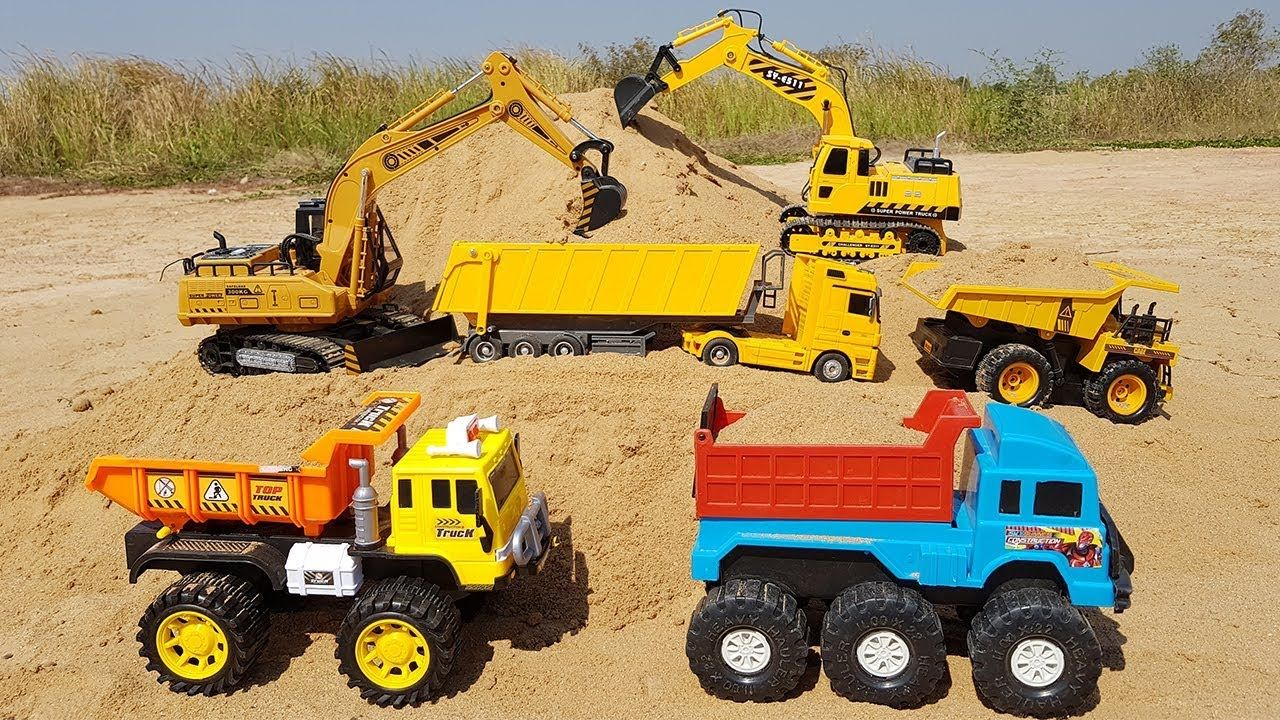 Construction Vehicles Toys For Kids Excavator Dump Truck Tractor Toys Tractor Toy Construction Vehicles Kids Toys