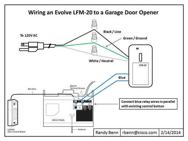 How To Wire An Evolve Relay Switch Garage Doors Garage Door Opener Garage
