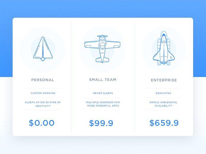25 creative pricing table designs for inspiration 8 ui rh pinterest com