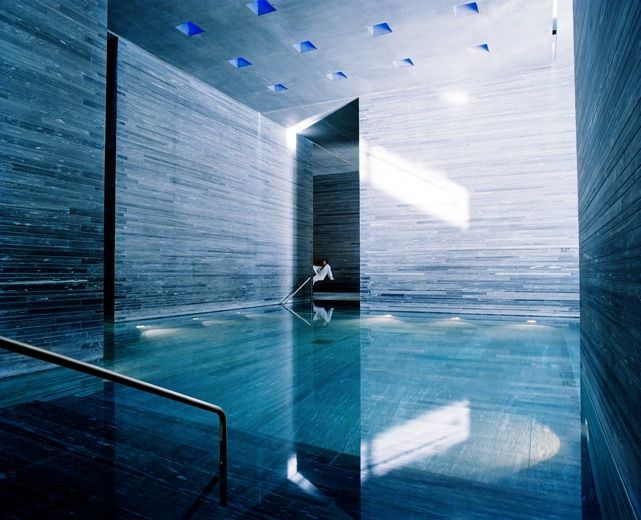 peter zumthor therme vals blue hues pinterest swimming pools peter zumthor and water. Black Bedroom Furniture Sets. Home Design Ideas