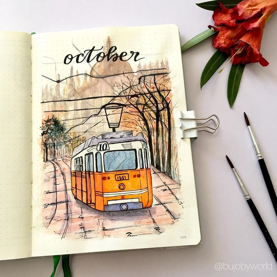 15 Fall Bullet Journal Watercolor Themes Bullet Journal