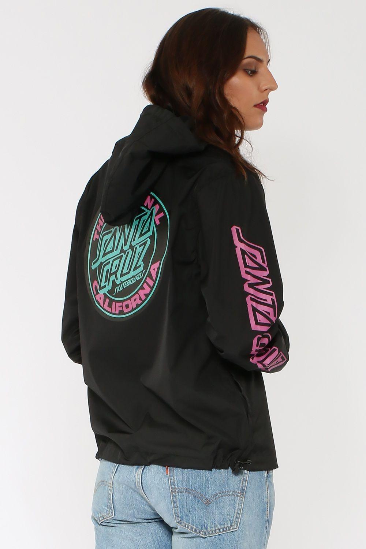 c028dff7f3 Santa Cruz Cali Dot Half Zip Jacket - Coats & Jackets | North Beach ...