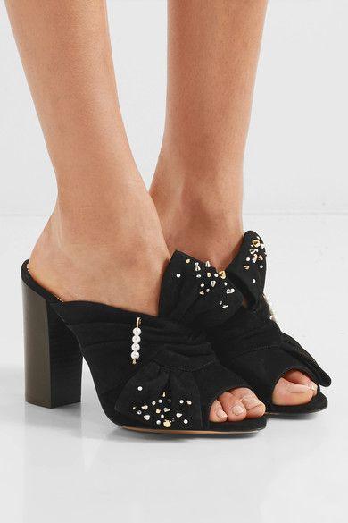 Marylebone embellished suede sandals Charlotte Olympia UWIguqXZ