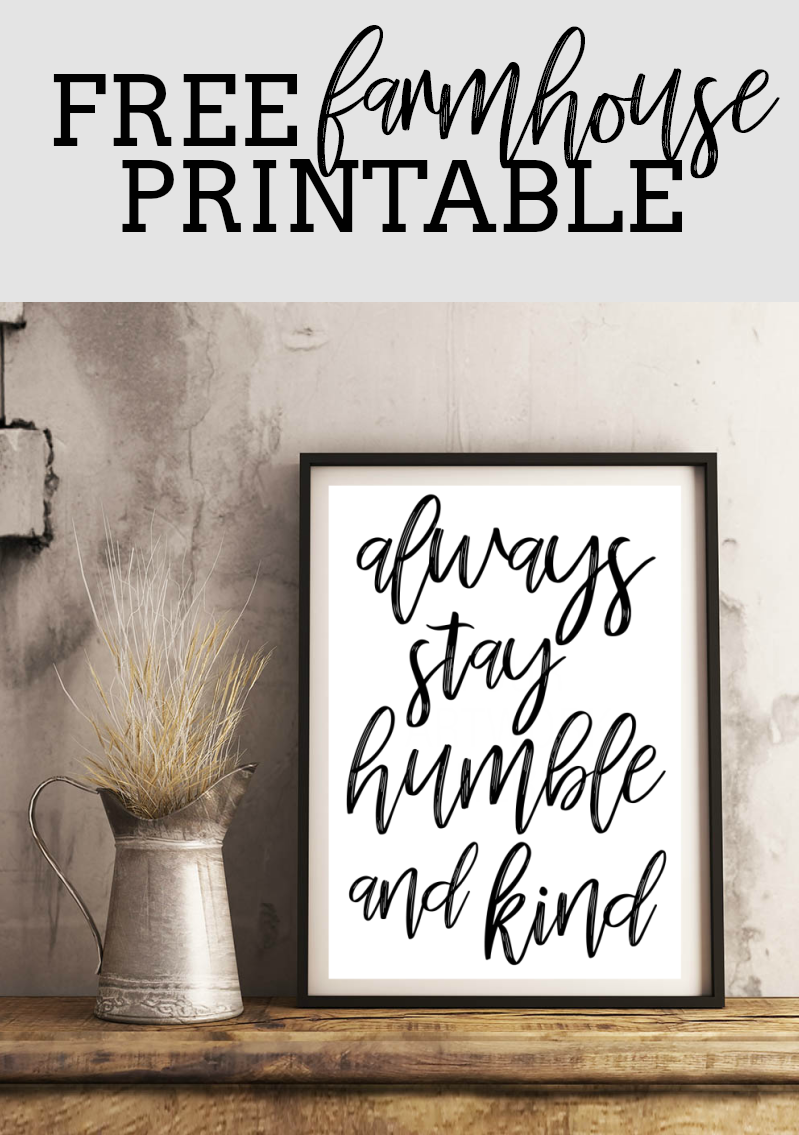 Click On The Images Below To Download A Free Farmhouse Printable Pdf