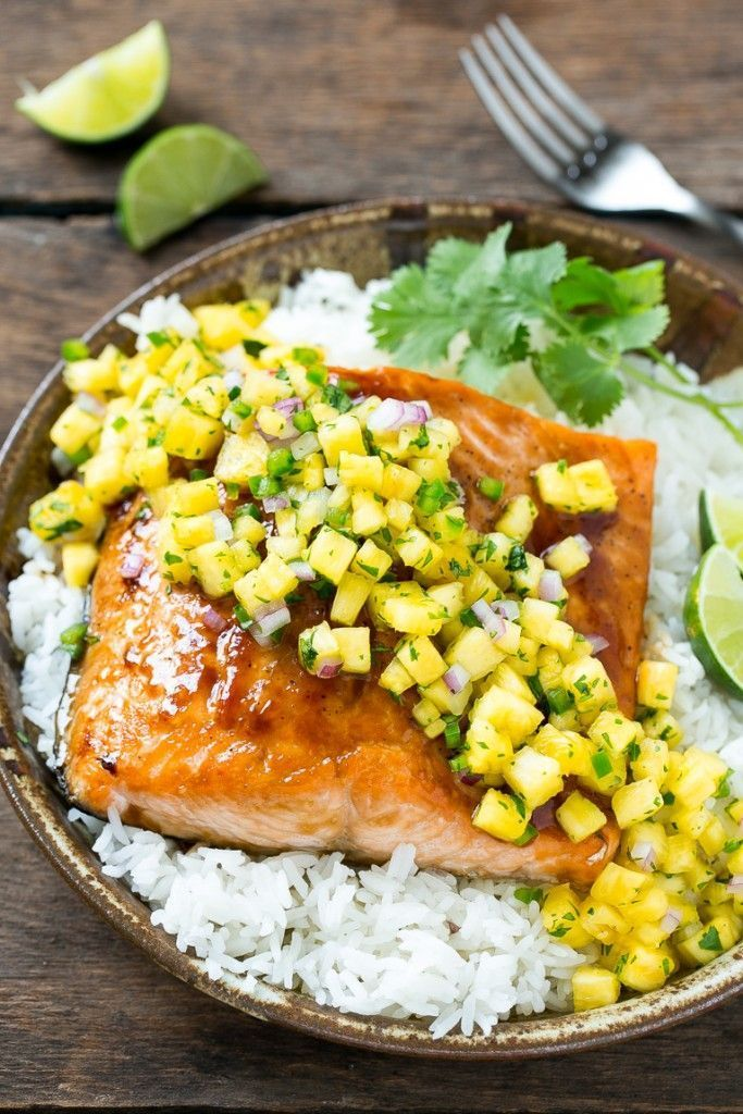 This recipe for salmon teriyaki is broiled salmon fillets brushed with a homemade teriyaki sauce and finished off with a sweet and tangy pineapple salsa #salmonteriyaki This recipe for salmon teriyaki is broiled salmon fillets brushed with a homemade teriyaki sauce and finished off with a sweet and tangy pineapple salsa #salmonteriyaki This recipe for salmon teriyaki is broiled salmon fillets brushed with a homemade teriyaki sauce and finished off with a sweet and tangy pineapple salsa #salmonte #salmonteriyaki