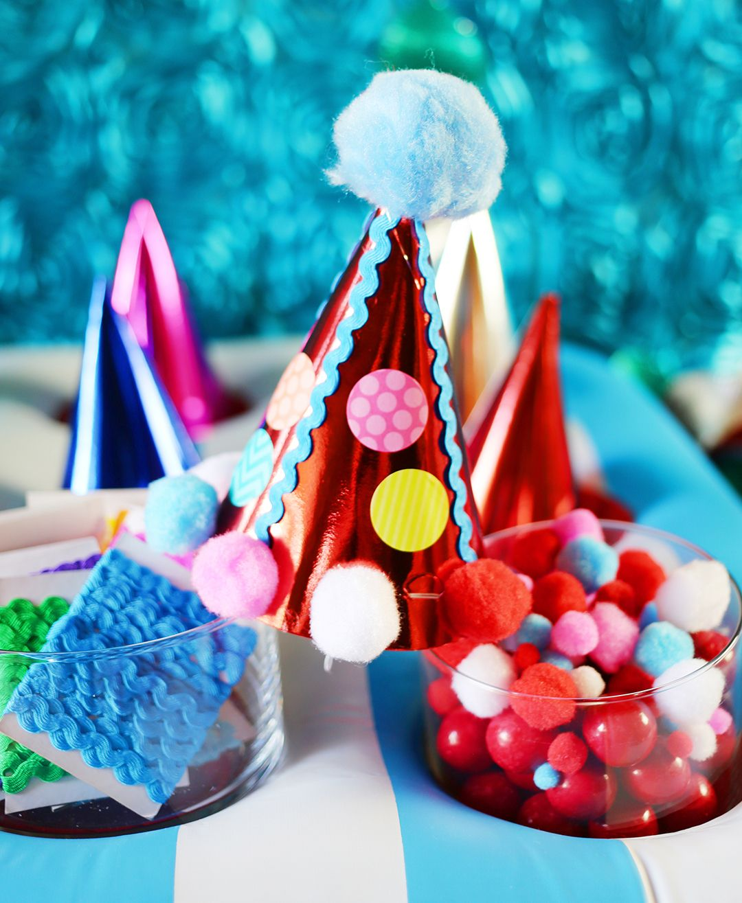 Make Your Own Party Hats Station