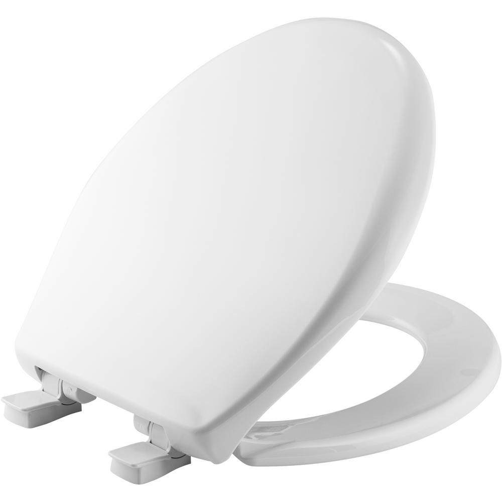 Bemis Slow Close Round Closed Front Toilet Seat In White 202slow
