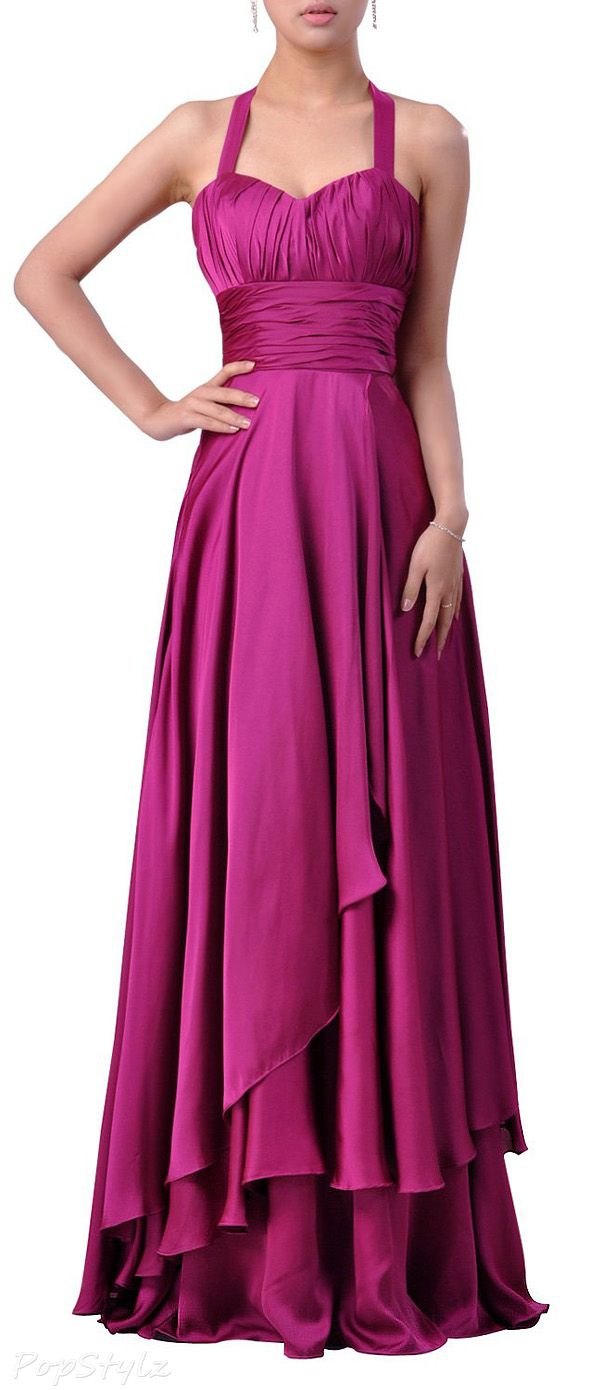 Adorona Empire A-Line Stretch Satin Gown | VESTIDOS | Pinterest ...