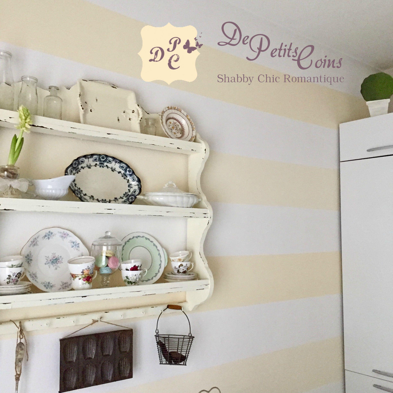 Pareti A Righe Shabby Chic parete a righe orizzontali per la mia cucina | idea di