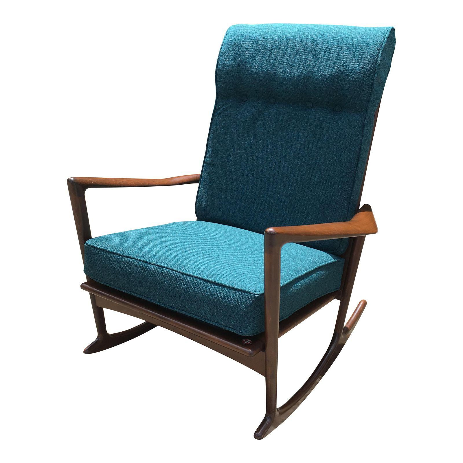 ideas rocker pic wooden popular of carson fixed century blue awesome carrington flooring mid fabric chair rocking aqua wood and