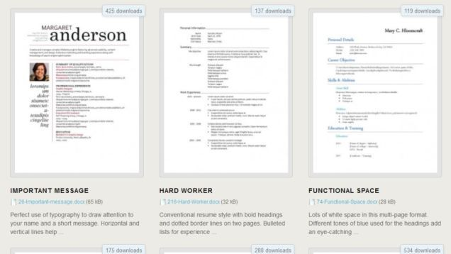 Download 275 Free Resume Templates for Microsoft Word RESUME