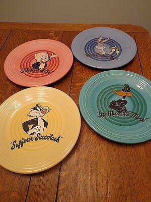 Set of 4 Warner Bros Fiesta Ware Looney Tunes Dinner Plates & Set of 4 Warner Bros Fiesta® Looney Toons Dinner Plates made by ...