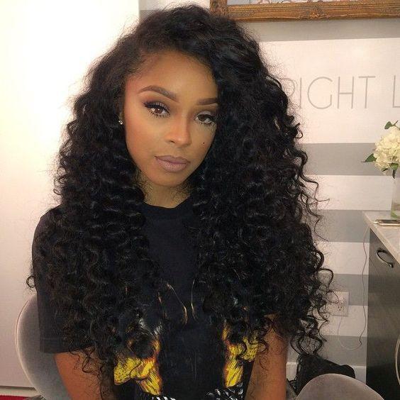 Brazilian Deep Wave Bundles Curly Human Hair Wig Hair Styles Natural Hair Styles