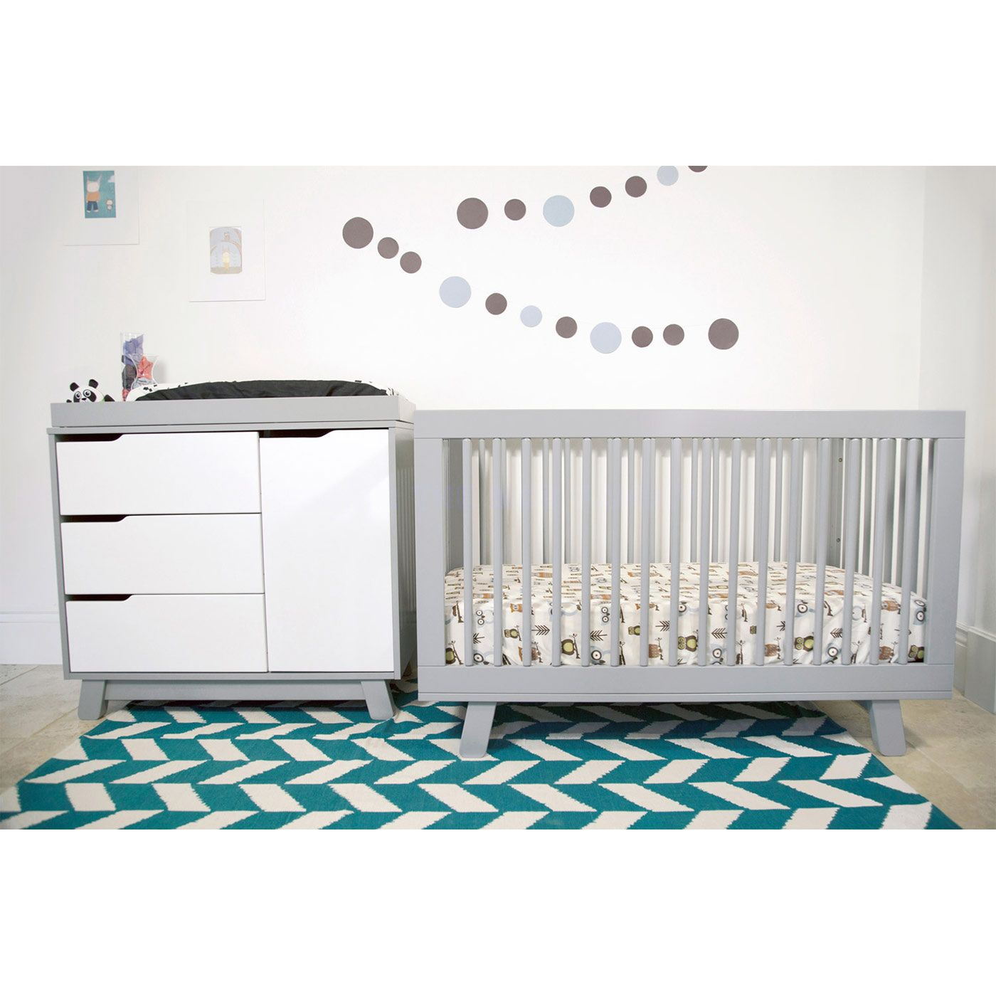 Babyletto Hudson 3-in-1 Convertible Crib in Grey | Nurseries ...
