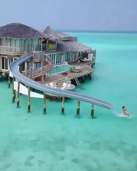 Overwater Villa Slide In Soneva Jani Maldives In 2020