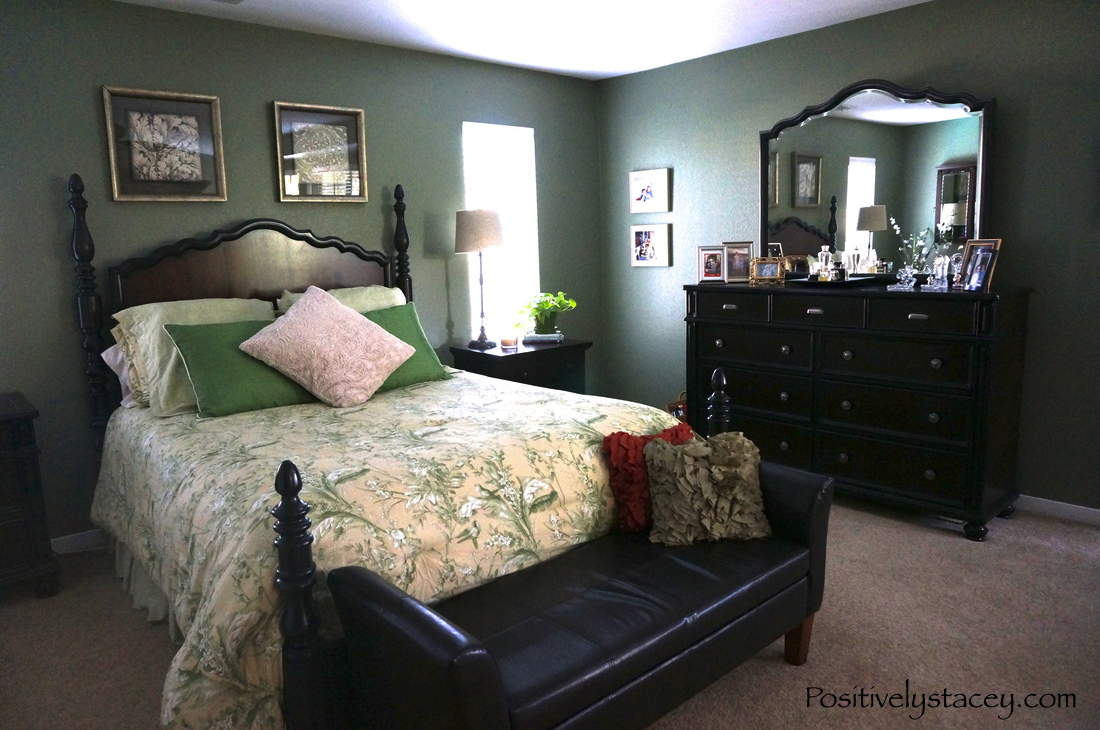 Hunter Green Master Bedroom