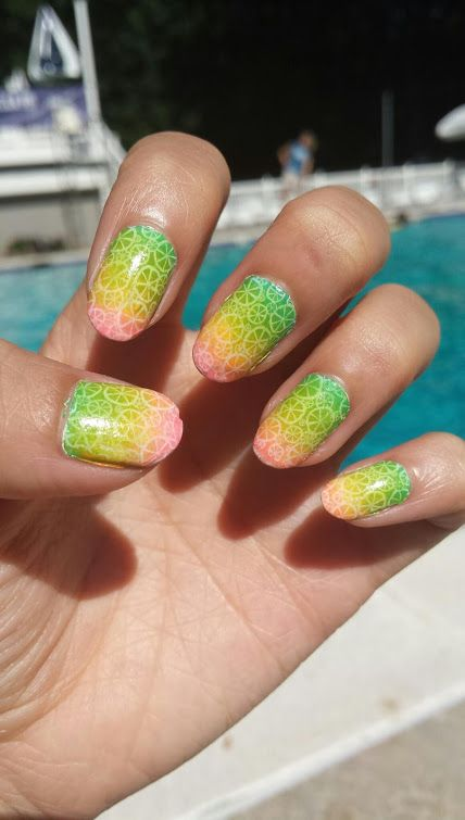 Rainbow gradient ombre citrus nail art summer nails my nail rainbow gradient ombre citrus nail art summer nails prinsesfo Gallery