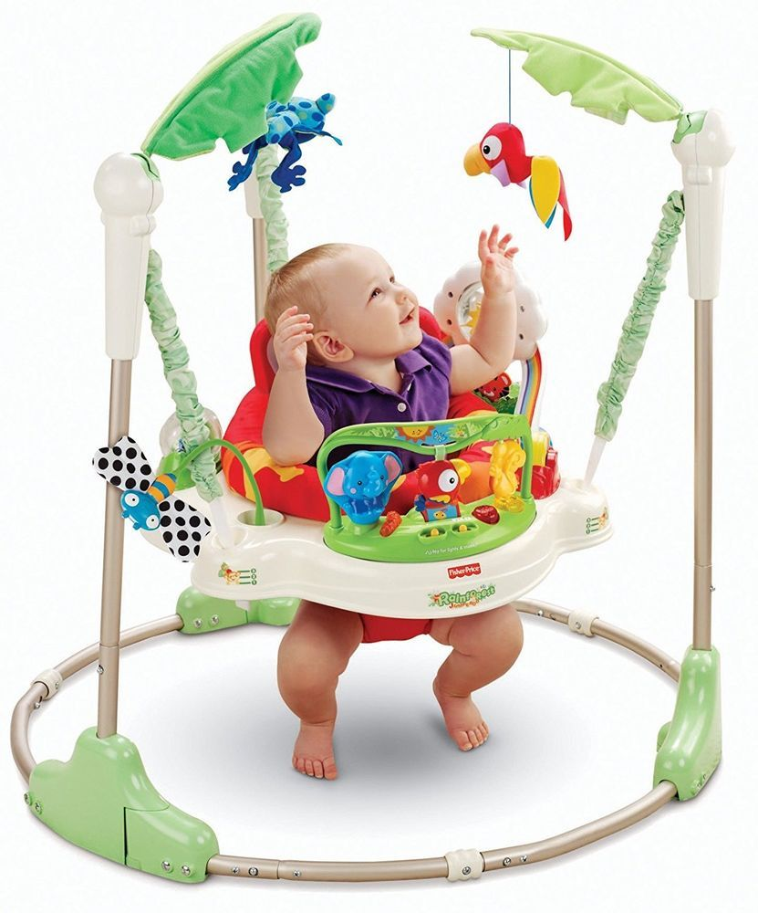 82d6fa045ec3 Rainforest Jumperoo Baby Jumper Bouncer Zoo Activity Educational ...