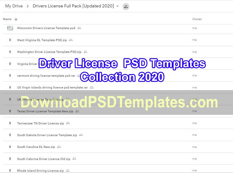 Drivers License Psd Templates Pack 2020 Fake Id Collection Download Psd Templates Drivers License Psd Templates Templates