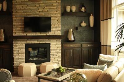 Heat Glo 6000 Modern fireplace and Lumbermens Richmond Ledge