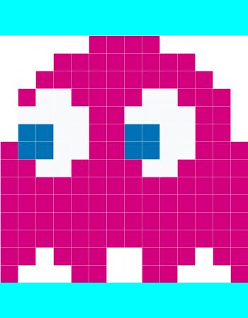Pink Pacman Ghost Png 350 450 Pixels Decoration