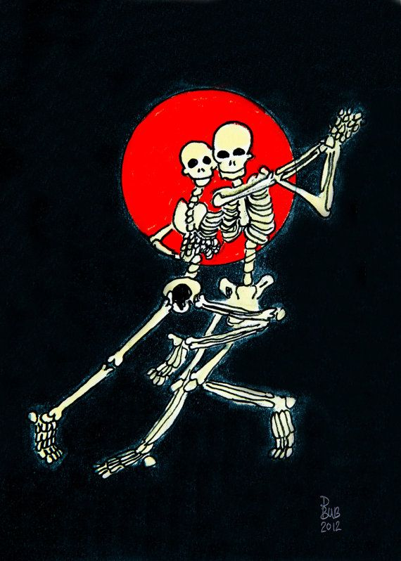 Dancing the Lifeor Death maybe Fantastic by DaniBubArt on Etsy, $10.00
